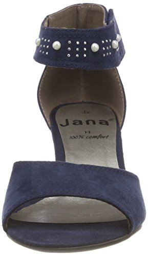 Jana Damen 28311 Riemchensandalen Blau (Navy)