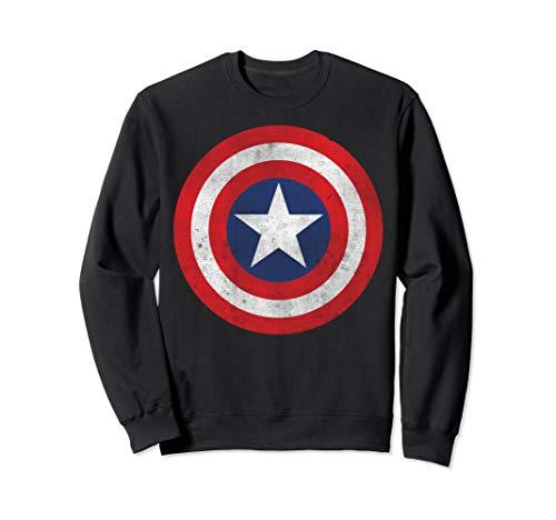 (Marvel Captain America Classic Shield Graphic Sweatshirt)