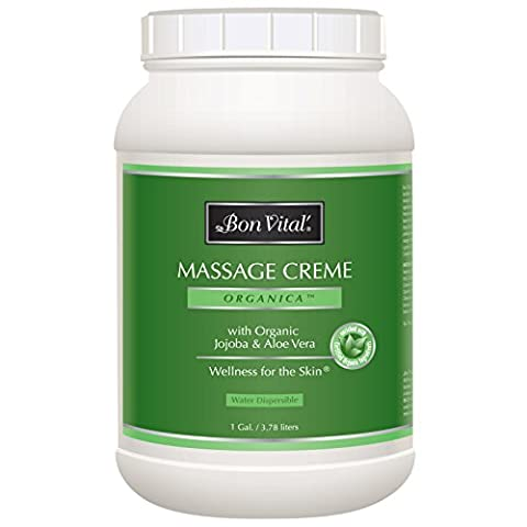 Bon Vital Organica Massage Crème Made with Certified Organic Ingredients for an Earth-Friendly & Relaxing Massage, 1 Gallon - Bon Vital Organica Lotion