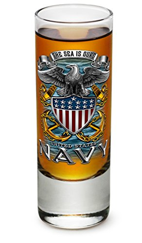 Shot Glasses – United States Navy Gifts for Men or Women – US Navy American Soldier Shot Glasses – Full Print Eagle Glass Shot Glass with Logo (2 Oz) Review
