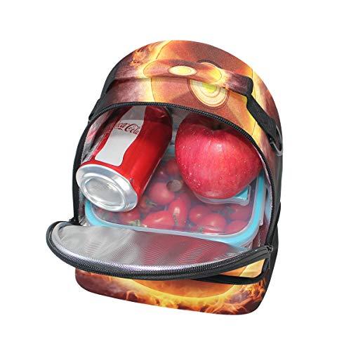Tote Cooler Folpply réglable Flame avec Boîte Musique à pour l'école Sac Fire bandoulière Pincnic à lunch isotherme Enregistre OzrOvw