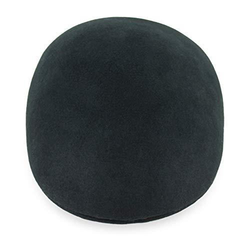 - Belfry Ascot Molded Wool Ivy Cap Black Grey Navy Pecan (Large, Black)