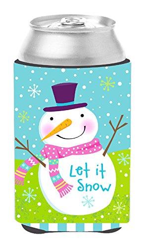 Snowman Bottle Hugger - Caroline's Treasures VHA3017CC Christmas Snowman Let it Snow Can or Bottle Hugger, Multicolor