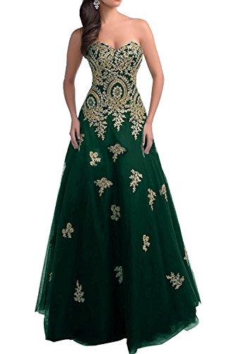 Dunkel Langes Marie La Quincenera Rock Gruen Ballkleider Abendkleider Prinzess Linie Romantisch Abiballkleider Braut A FUFZaWg7