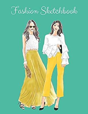 Fashion Sketchbook The Book For Sketching Your Artistic Fashion Design Ideas Including 2 Women Line Shapes Silhouettes To Help You Sketch Draw Your Inspiration And Passion 122 Pages The Prints You Want