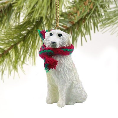 1 X Great Pyrenees Miniature Dog Ornament