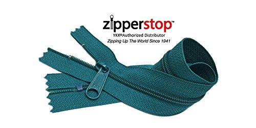 Zipperstop Wholesale YKK 14 Inch Hottest Colors Spring/ Summer 2015 Colors YKK #4.5 Handbag Zippers – Extra-long Pull Closed Bottom -5pcs Each Color (906 - Channel Blue)