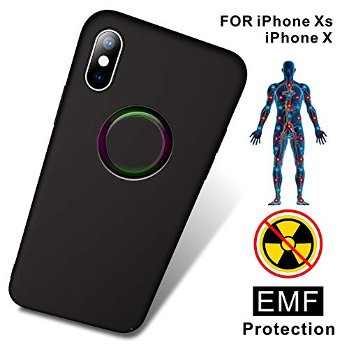 Antiradiation Cell Phone - TAGCMC Anti-Radiation Cell Phone Case, EMF Protection & Negative Ion Energy, Ultra Thin Hard Cover Soft Slim Fit Shell Full Body Protection for Apple iPhone Xs/iPhone X -(Only for iPhone Xs/X-Black)