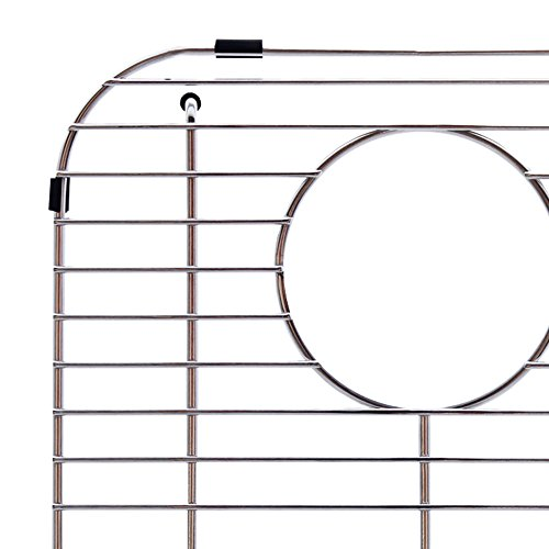 Franke Evolution Universal 13.1-inch x 11.6-inch Double Bowl Sink Protection Grid in Stainless Steel with Rear Drain, FGD75 by Franke (Image #2)
