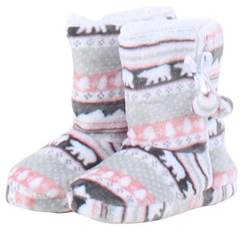 Pictures of PajamaMania Slipper Boots with Rubber Sole Bear 3