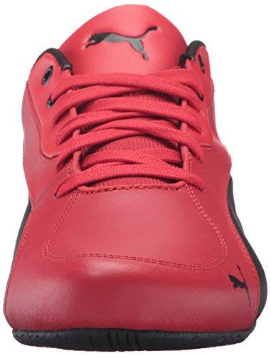 Mens Puma Drift Cat 5 Ferrari Pelle Sneaker Rosso Corsa / Puma Nero