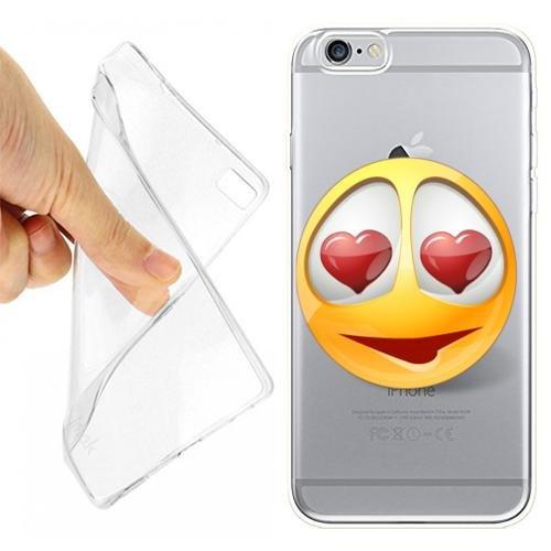 CUSTODIA COVER CASE SMILE INNAMORATO PER IPHONE 6 6S TRASPARENTE