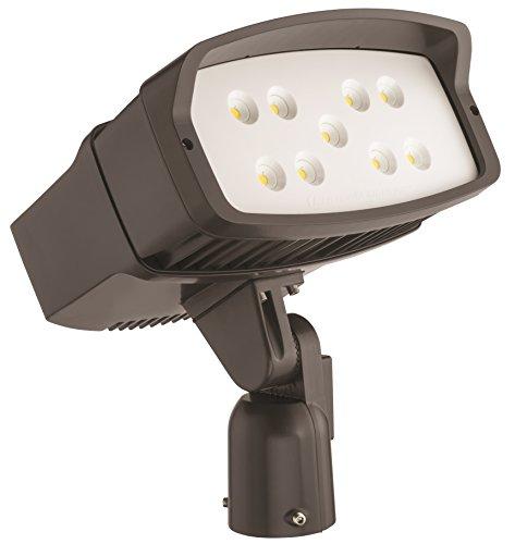 Lithonia Lighting OFL2 40K DDBXD M2 LED Size 2 Floodlight with P2 Performance Package, Slipfitter Mount, MVOLT, 4000K, 10000 Lumens, 121 Watt,