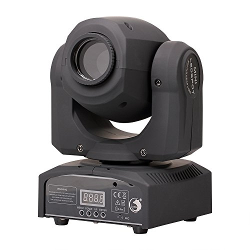 Stage Lighting Moving Head Light LED Spot 4 Color Light 25W with 7/10 Channel for Party Disco DJ Show KTV DMX-512 by U`King by U`King