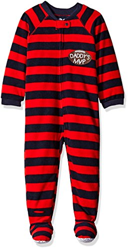 The Children's Place Baby Boys' Long Sleeve One-Piece Pajamas 2, Dead/Poppy Field 65815, 6-9 Months