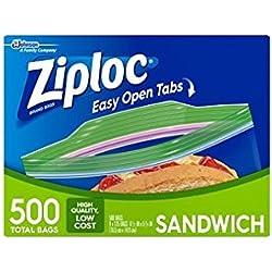 Ziploc Sandwich Bags, Total 200 Bags, 4 X 50 Count Boxes