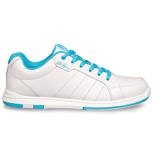 KR Strikeforce L-041-080 Satin Bowling Shoes, White/Aqua, Size 8