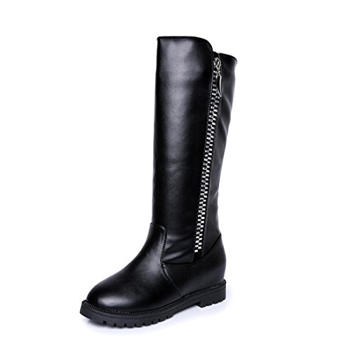 De Botte Cuisses dessus La Noir D'hiver Haute Les Chaussures Femme Bottes Plats lhwy Talons Genou Au Femmes WAaRPaIHvq