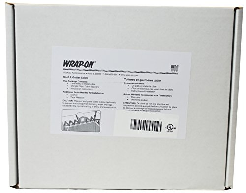 [해외]Wrap-On 14161 160 'Roof & amp; /Wrap-On 14161 160` Roof & Gutter De-Icing Heating Cable Black 800 Watts 7.02