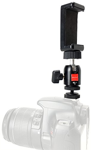 iShot Pro Remora S1 iPhone Universal Smartphone Tripod Monopod SLR Camera Flash Hot Shoe Mount + 360° Swivel Ball Head - Compatible with iPhone Samsung Galaxy Nexus LG HTC and Others from 2.2-3.2'' by iShot Pro (Image #9)