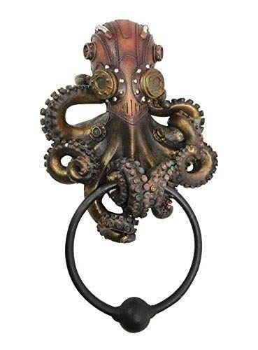 ShopForAllYou Figurines and Statues Steampunk Octopus Kraken Warrior Decorative Resin Door Knocker Figurine