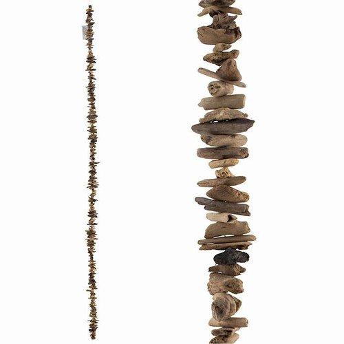 World Buyers DRIFTWOOD GARLAND SLIM- Handcrafted Natural Beach Driftwood Garland-Ocean Themed Home Decor 3x72 l