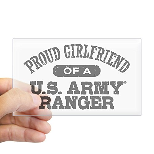 CafePress - Army Ranger Girlfriend - Rectangle Bumper Sticker Car Decal