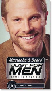 Moustache & Beard Just for men Hair dye color Sandy Blond: Amazon ...