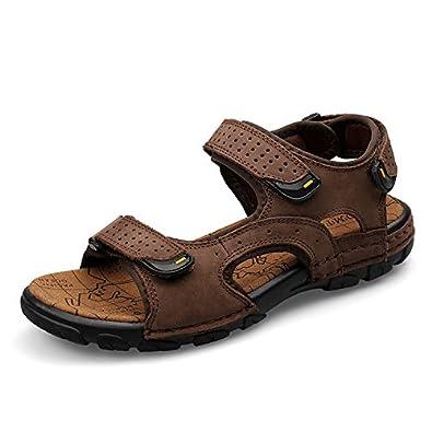 Sport Sandale, Nasonberg Cowhide Unisex Herren Damen Strand Wandern Sommer Sandale im Freien Wandern Sport Sandale- Braun, 42 EU