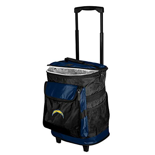 Logo Brands 626-57 San Diego Chargers 48-Can Rolling Cooler with Wheels and Backpack Straps, 12 oz, Blue ()