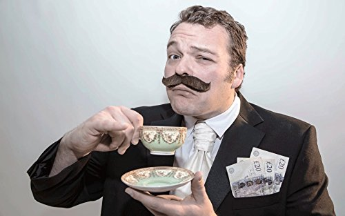 [The 'Money' fake stick-on fancy dress moustache from Super-Stache - Brown] (Britain Costume Ideas)