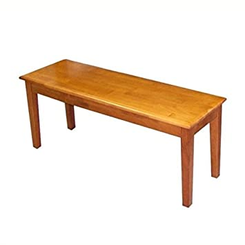 Incredible Amazon Com Bowery Hill Wood Dining Bench In Oak Table Theyellowbook Wood Chair Design Ideas Theyellowbookinfo