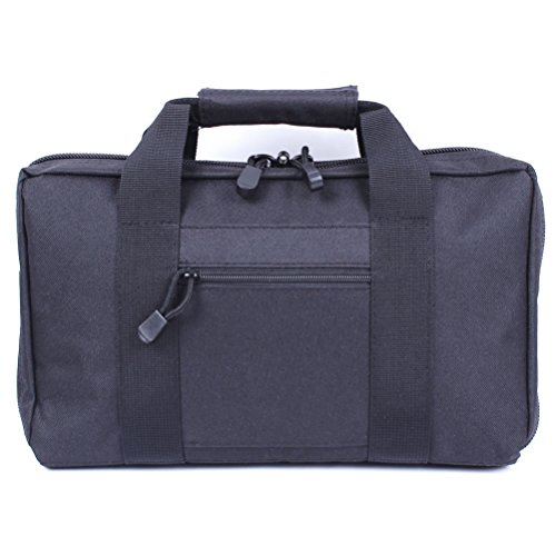 Vivoi Discreet Pistol Case with Heavy Duty Double Zippers (Black)