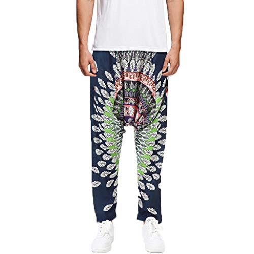 (Botrong Unisex Fashion Sport Jogging Couple Printed Casual Sweatpants)