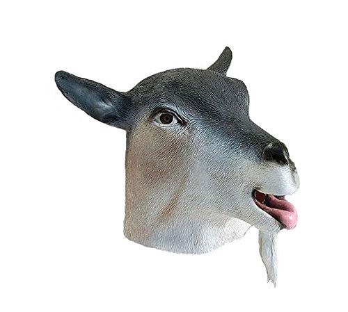 Latex Full Head Billy Nanny Goat Mask]()