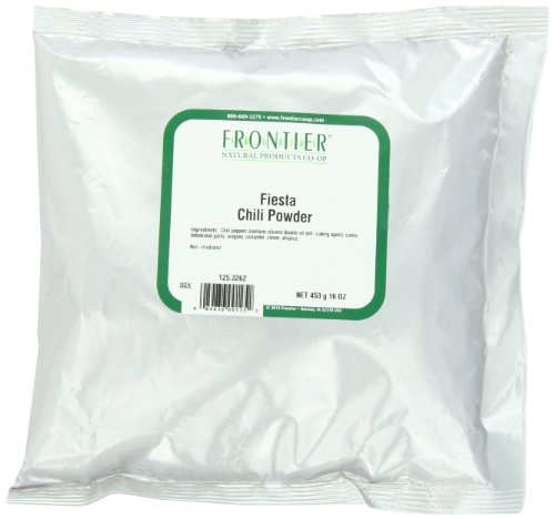 Frontier Chili Powder Blend, Fiesta, 16 Ounce Bag by Frontier