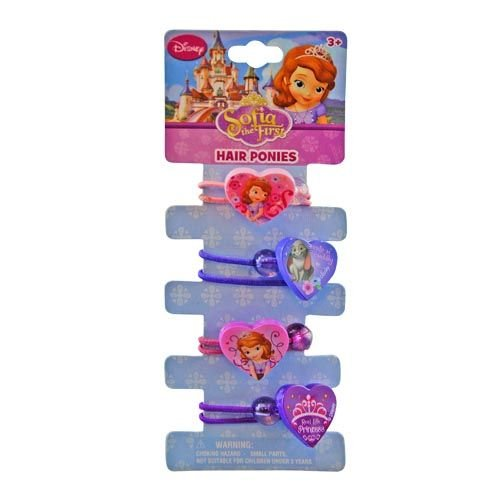 Disney Princess Sofia the First Ponytail Holders - Girls Hair Accessory
