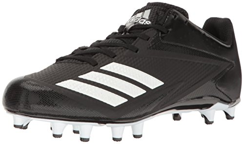 adidas Performance Men's 5-Star Football Shoe, Black/White/Metallic Silver, 12 Medium US