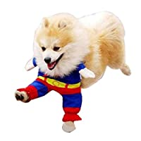 Gaorui Puppy lovely Superman Pet Dog Clothes Halloween apparel Costumes Cute Jumpsuit