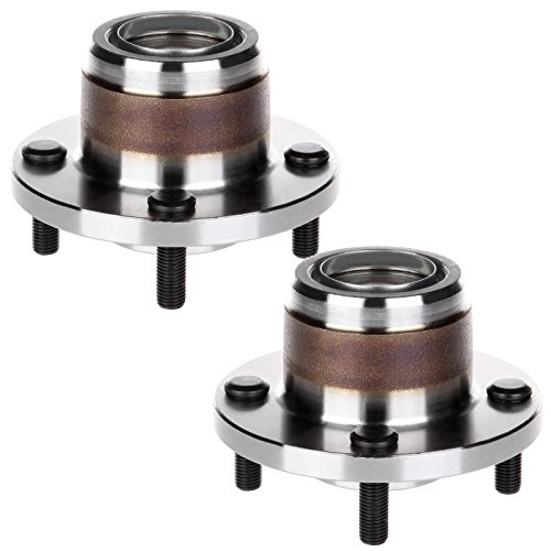 ECCPP Pair of 2 New Complete Rear Wheel Hub Bearing Assembly 4 Lugs for 2000-2009 Ford 521002×2