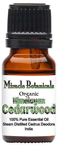 Miracle Botanicals Organic Himalayan Cedarwood Essential Oil - 100% Pure Cedrus Deodora - Therapeutic Grade - 10ml