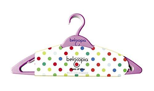 Belocopia Twilight 6 Piece Plastic Hanger, Assorted Colors