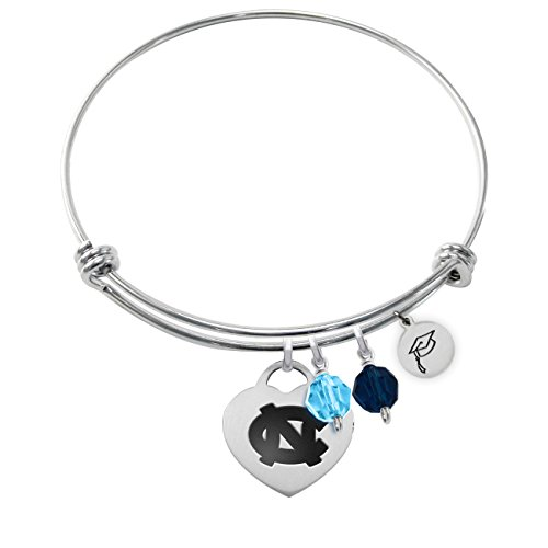 - College Jewelry North Carolina Tar Heels Adjustable Graduation Bracelet with Heart Charm