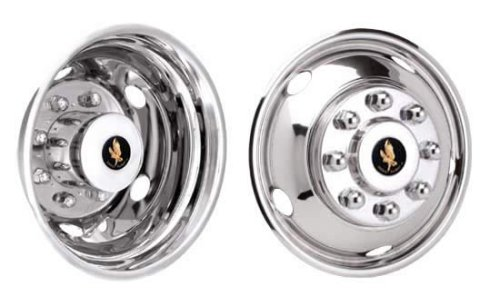 17' Stainless Steel Wheel Simulators for 2003 - 2013 Dodge Ram 3500 Dually Jae Enterprises Inc