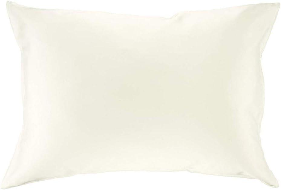BINCHENG Taie doreiller 100/% Soie pour Cheveux Fermeture /Éclair Luxe 25 Momme Soie de m/ûrier Rose Vintage Blanc Non Teint Standard