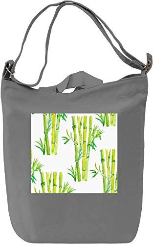 Bamboo Print Borsa Giornaliera Canvas Canvas Day Bag| 100% Premium Cotton Canvas| DTG Printing|
