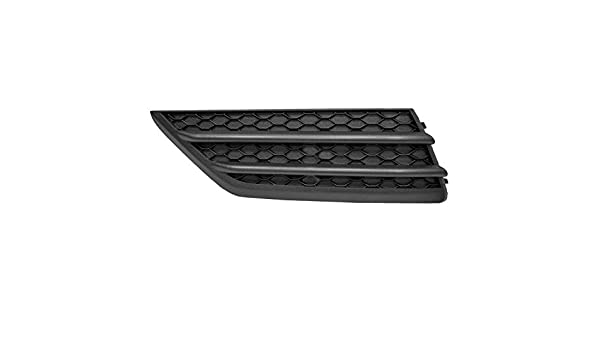 2016-2018 Honda Pilot Front Driver Side Lower Bumper Cover Grille; Without Park Assist; Textured Black; Made Of Abs Plastic Partslink HO1038130