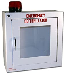 First Voice TS145SM-14R AED Basic Wall Standard Cabinet with Alarm and Strobe, 13.5\