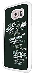 472 - Crazy Student Party Summer holiday Design For Samsung Galaxy S6 i9700 Fashion Trend CASE Back COVER Plastic&Thin Metal