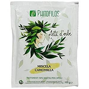 - PHITOFILOS - Chamomile Mixture - 100% Organic Hair Treatment - for Blond/Golden Shades - with Cassia, Rhubarb, Lawsonia - 100 gr